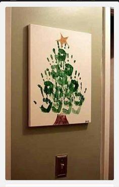 Great Handprint Christmas Tree
