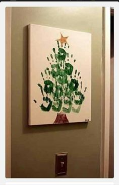 Great Handprint Christmas Tree