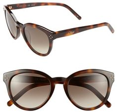 f5bd7a00b90  Chloe  Eyewear  Chloe   Boxwood   50mm  Sunglasses  Tortoise