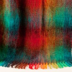 Coloured Checked Mohair Blanket - Blankets - Decoration | Zara Home