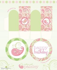 Paisley Pretty and Pink Printable Party set  by FrogPrincePaperie, $32.00