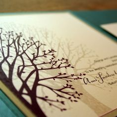Wedding Invitation Blooming Tree Pocketfold  by EverlastingInvites, $50.00