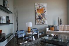 modern living room - like the color scheme