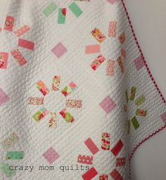 crazy mom quilts: waiting quilt made from mini charm pack
