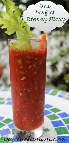 The Perfect Bloody Mary - Just the right amount of spice and kick. Serve it for brunch or early evening cocktails. Whatever the occasion, its a crowd pleaser! #breakfast #recipes #brunch #morning #recipe