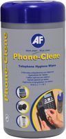 The most popular product at the Scottish Business Exhibition!  AF Phone-Clene Wipes. Anti-bacterial phone cleaner containing strong bactericide. Ideal for hot desking to reduce cross contamination. Proven to kill germs for up to 24 hours. 100 wipes in a resealable tub.