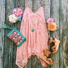 Tag a friend who would totally rock this dress! You'll have nothing but good thoughts while rocking this cutie!! @bcfootwear #ShopImpressions #BCstyle #Lace #Pink #SpringFever #GetInMyCloset