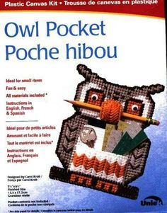 Cover Only Owl Pocket NCS-803311 quick stitch plastic canvas