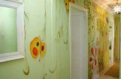 mural vegetacion pasillo