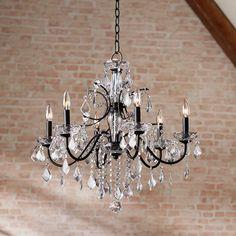 Lamps Plus Crystal Lamps.Contemporary Floor Lamps Modern Lamp Designs Lamps Plus. Rattan Wicker Lamp Shades Lamps Plus. Chandelier Lighting Fixtures, Lantern Chandelier, Bronze Chandelier, Light Fixtures, Chandelier Ideas, Wheel Chandelier, Foyer Lighting, House Lighting, Bathroom Lighting