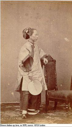 Indonesia, Java ~ Chinese baboe, 1870