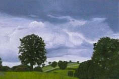 'Afternoon Storm' oil paint on linen stretcher