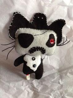 Pirate Zombie wool felt by terryswhimsies on Etsy, $25.00