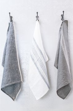 Bianca Lorenne Tea Towel Slate Set of 3 - Replete Cafe & Store Kitchen Linens, 50 Shades Of Grey, Tea Towels, Slate, Gifts For Her, New Homes, Towel Set, Beach House, Architecture