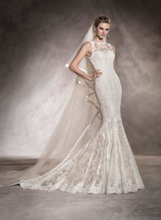 68546f2f6f33 Pronovias Aura Wedding Dress is in overall good condition. Designer   Pronovias Style  Aura Colour  Off White Beige Size 12 UK Most of our