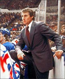 Herb Brooks (1937-2003), elected to the Hockey Hall of Fame in 2006. Coach of the 1980 & 2002 U.S. Olympic hockey teams, New York Rangers coach 1981-5, Minnesota North Stars 1987-9, etc., etc...