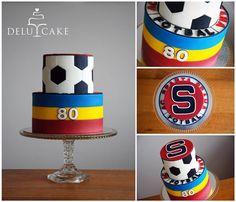 Sparta by DELU CAKE  #sparta #fotbal #acspartapraha #cake #redvelvet #creamcheese #football #soccer #prague #fondant #sweet
