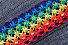 Lacy Rainbow Hemp Keychain by HempyEnding on Etsy