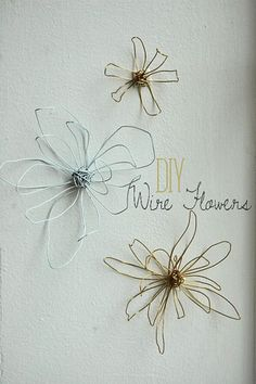diy wire flowers~