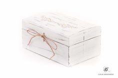 #Caja de #madera porta #arras, #boda Andrés y Alicia, #rústica. www.lolagranado.com