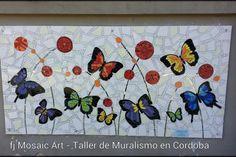 MOSAICO CREATIVO de fj Mosaic Art: Obra Mosaic Pots, Mosaic Wall Art, Mosaic Diy, Mosaic Garden, Mosaic Crafts, Mosaic Projects, Mosaic Glass, Mosaic Tiles, Butterfly Mosaic