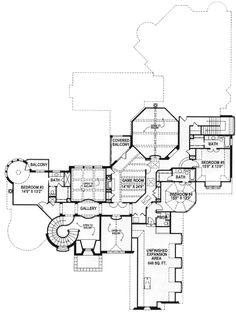 Luxurious European Manor - 15402HN | 1st Floor Master Suite, Bonus Room, Butler Walk-in Pantry, Corner Lot, Den-Office-Library-Study, European, French Country, Luxury, MBR Sitting Area, Media-Game-Home Theater, Multi Stairs to 2nd Floor, PDF | Architectural Designs