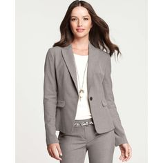 Ann Taylor Melange All-Season Stretch One Button Jacket ($168) ❤ liked on Polyvore