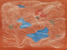 thunderstruck9:  Herbert Bayer (Austrian/American, 1900-1985), Untitled (Red), 1951. Gouache over pencil on paper, 37.8 x 48.6 cm.
