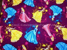 gz016  1 Yard Cotton Fabric  Disney Cartoon Characters by dotcn, $10.00