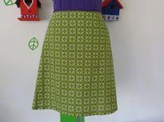 Miss Geometrically Green (Size S / 36) Skirt A-line