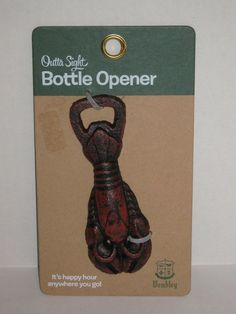 Lobster Outta Sight Bottle Opener Cast Iron Wembley  #MS11 #Wembley