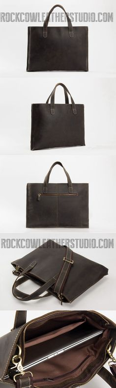 a83f6c7db958f Minimalist Leather Briefcase Laptop Bag Designer Handbag ZB02
