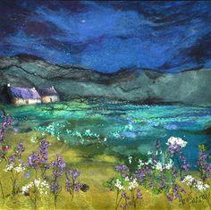 Landscape Quilts, Landscape Art, Landscape Paintings, Contemporary Landscape, Landscapes, Textile Fiber Art, Textile Artists, Fabric Painting, Fabric Art