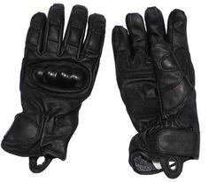MFH Lederhandschuhe, schwarz, mit Knöchel- und Schnittschutz / mehr Infos auf: www.Guntia-Militaria-Shop.de