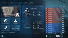Game statistics menu