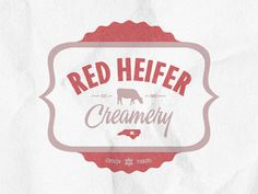 Dribbble - Red Heifer (cow) Creamery by Yossi Belkin