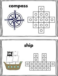 Here is a fun Christopher Columbus themed math center that would be perfect to use during the month of October!  Students will select a card, and use snap cubes to replicate the picture on the card.  Then they can count the number of cubes used to make the shape and record it on their recording sheet!
