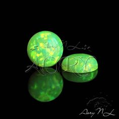 1pcs 6mm Spring Bud Synthetic Opal Cabochon Round Shape by AoryNL