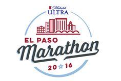 El Paso marathon logo using Laura Worthington's Voltage #font