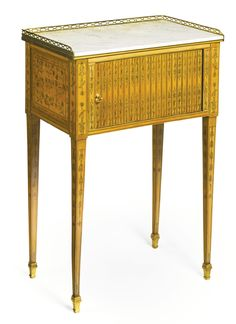 A LOUIS XVI ORMOLU-MOUNTED CITRONNIER AND FLORAL MARQUETRY TABLE EN CHIFFONNIÈRE<br>circa 1775 | Lot | Sotheby's