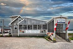 Fresh seafood and other local fare served on a deck overlooking North Rustico Harbour. Watch blue herons, fishing boats and sunsets while enjoying aut Scallop Linguine, Chocolate Potato Cake, Pei Canada, Blue Mussel, Fresh Seafood, Prince Edward Island, Mussels, Get Directions, Outdoor Fun