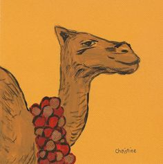 Christine's Blog: Paint Party Friday - Christmas Camel