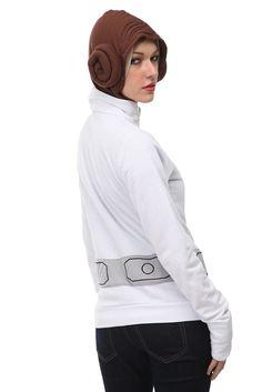 $55 - Princess Leia hoody - with the buns sewn on each side of the hood.
