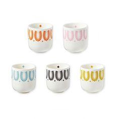 5 tasses à café multicolores Mr&Mrs Clynk - Deco Graphic