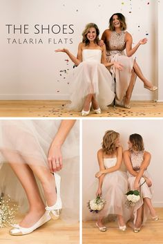 Dance the night away in comfort and style with Talaria Flats! The perfect bride and bridesmaid gift!