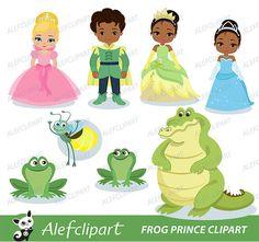 Príncipe Rana Digital imágenes prediseñadas para su por Alefclipart