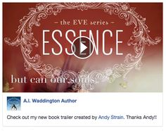 Awesome! A.L. Waddington shares a reader submitted book trailer for 'Essence (The EVE Series Book 1).'