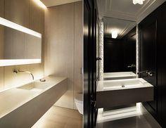 Badspiegel mit Beleuchtung - Doppelwaschtisch mit Aufsatzbecken ...
