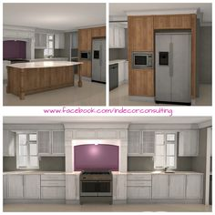 Conceptual kitchen design for a new build in Franschoek Conceptual Design, New Builds, Kitchen Design, Garage Doors, Kitchens, New Homes, 3d, Building, Outdoor Decor