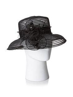 Giovannio Women's Lampshade Hat, Black